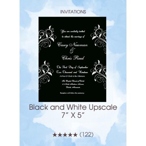 Invitations - Black and White Upscale