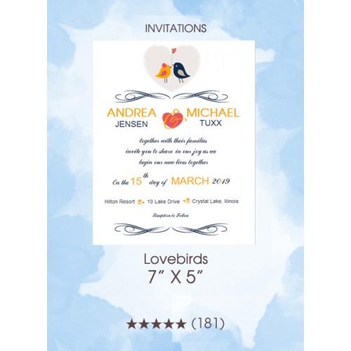 Invitations - Lovebirds