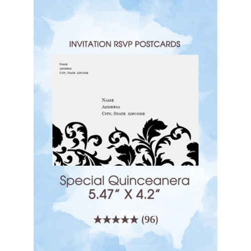 Special Quinceanera - RSVP Postcards