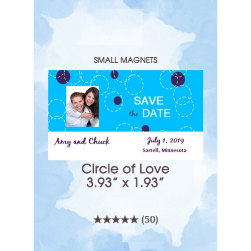 Circle of Love, Too Small Save the Date Magnets