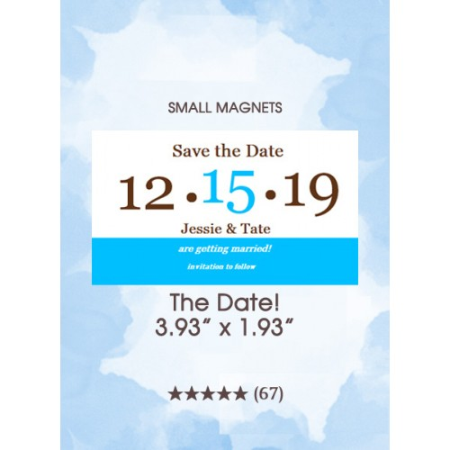 The Date! Too Save the Date Small Magnets