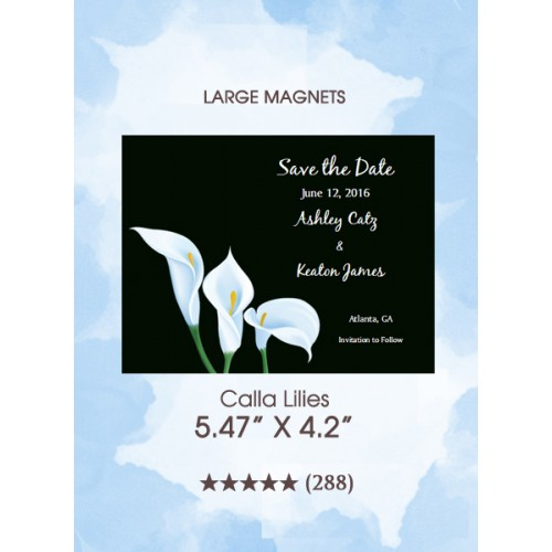 Calla Lilies Save the Date Magnets