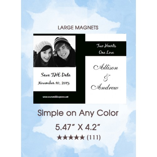 Simple on Any Color Save the Date Magnets