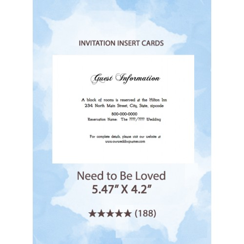 Need To Be Loved - Insert Cards