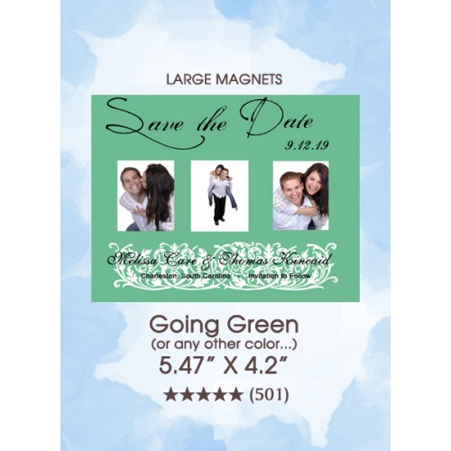Going Green Save the Date Magnets