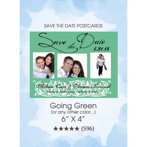 Going Green Save the Date Postcards