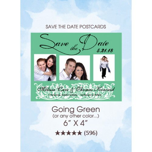 Going Green Save the Date Cards