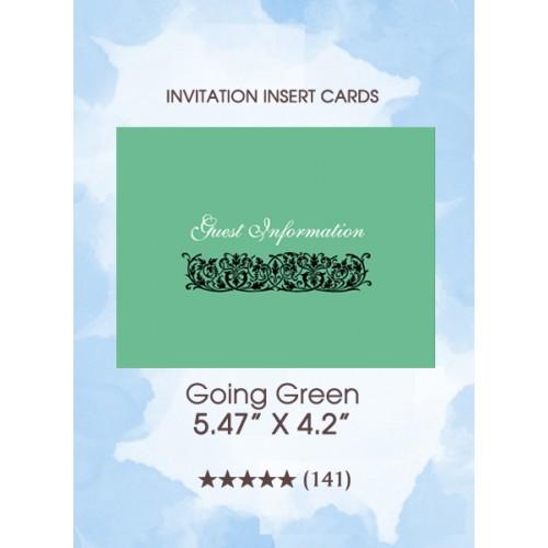 Going Green - Insert Cards