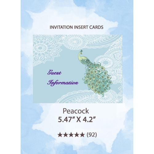 Peacock - Insert Cards