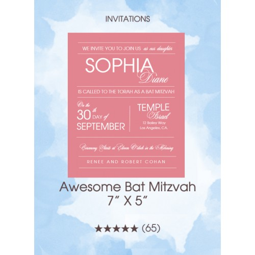 Invitations - Awesome Bat Mitzvah