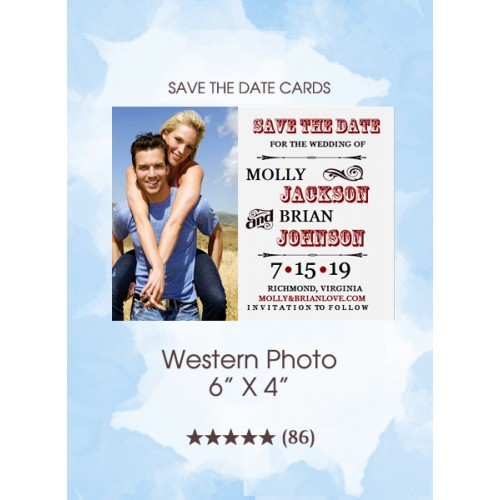 Western Photo Save the Date Cards
