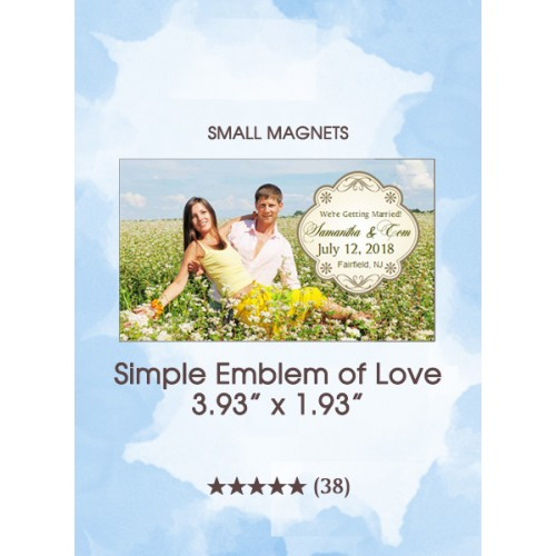 Simple Emblem of Love, Too Save the Date Small Magnet