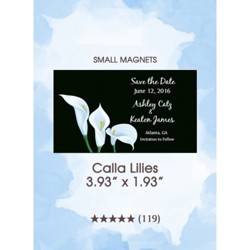 Calla Lilies, Too Small Save the Date Magnets