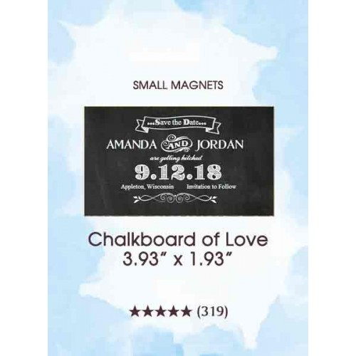 Chalkboard Save the Date, Too Small Magnets