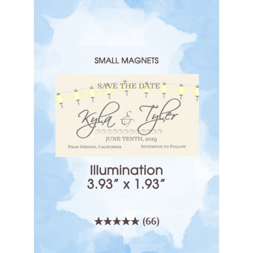 Illumination, Too Save the Date Small Magnets