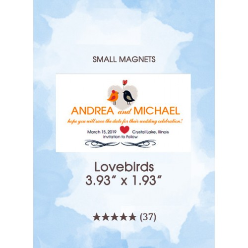 Lovebirds, Too Small Save the Date Magnets