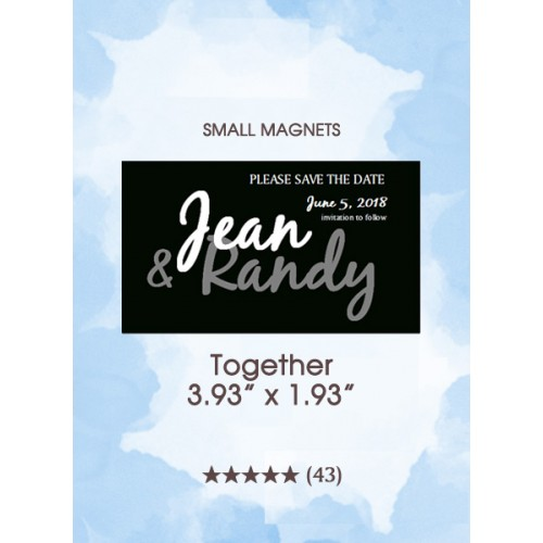 Together, Too Save the Date Small Magnets