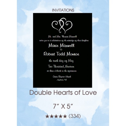 Double Hearts of Love Invitation