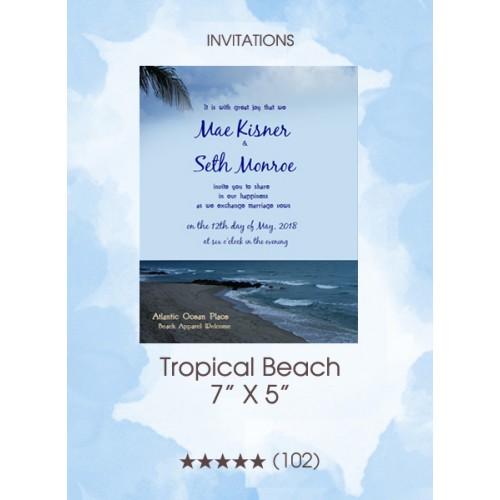 Invitation - Tropical Beach