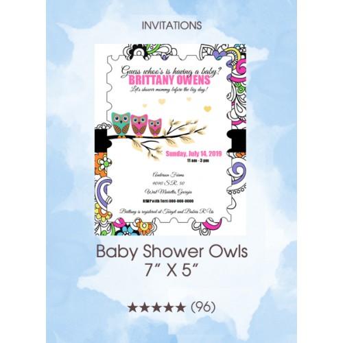 Invitations - Baby Shower Owls