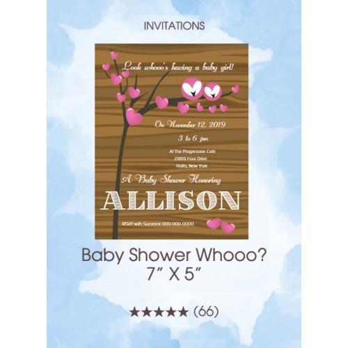 Invitations - Baby Shower Whooo?