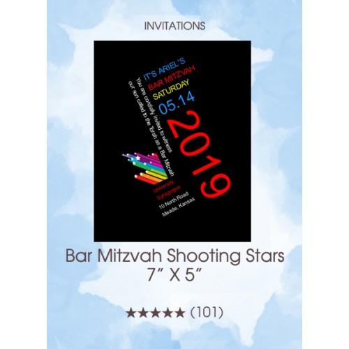 Invitations - Bar Mitzvah Shooting Stars
