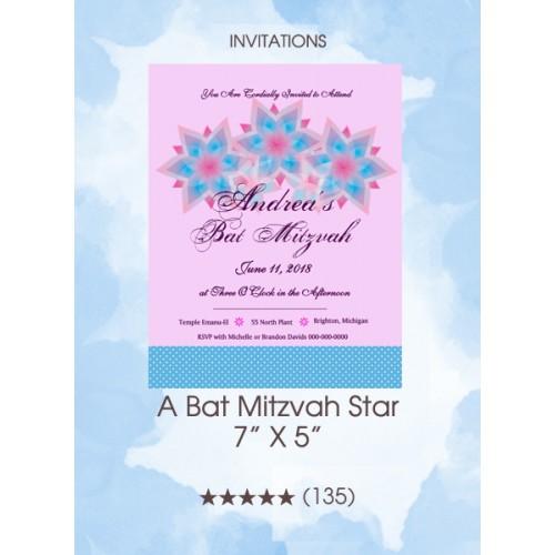 Invitations - A Bat Mitzvah Star