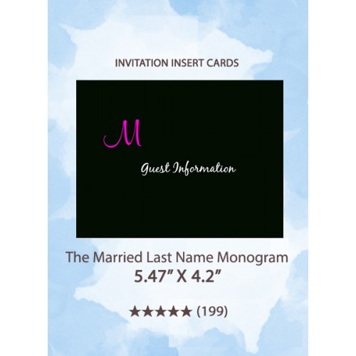 The Married Last Name Monogram  - Insert Cards
