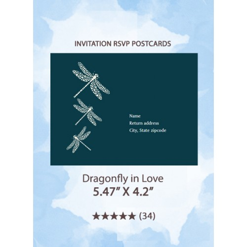 Dragonfly in Love - RSVP Postcards