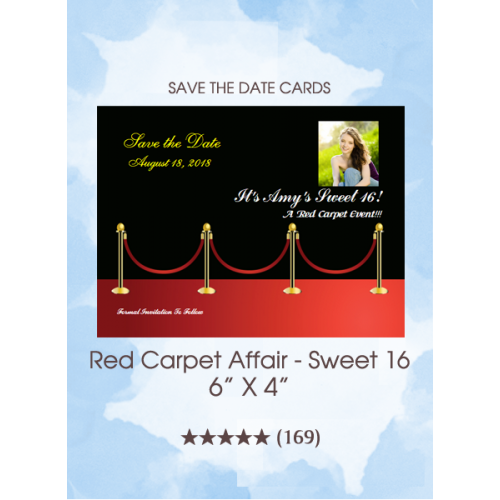 Save the Dates - Red Carpet Affair Sweet 16
