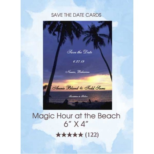 Save the Dates - The Beach At Magic Hour