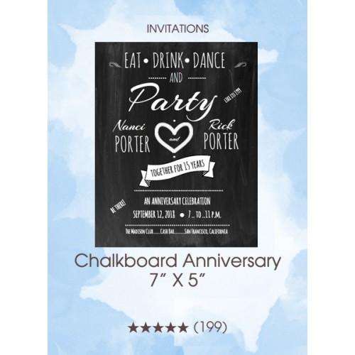 Invitations - Chalkboard Anniversary