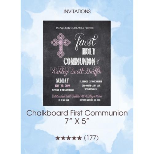 Invitations - Chalkboard First Communion