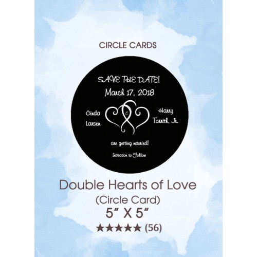 Save the Dates - Double Hearts of Love (Circle Card)