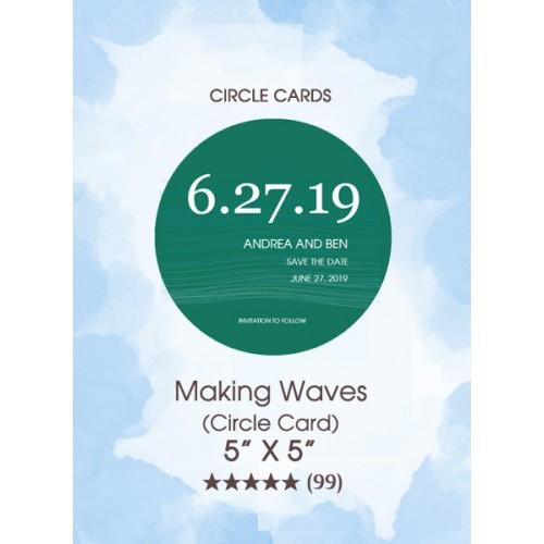 Save the Dates - Making Waves (Circle Card)