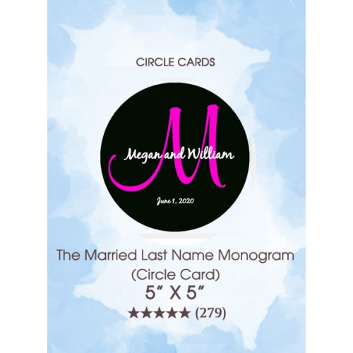 Save the Dates - The Married Last Name Monogram (Circle Card)