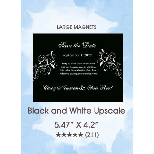 Black and White Upscale Save the Date Magnets
