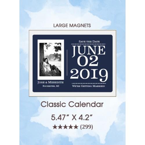 Classic Calendar Large Magnet