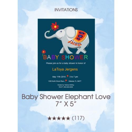 Invitations - Baby Shower Elephant Love