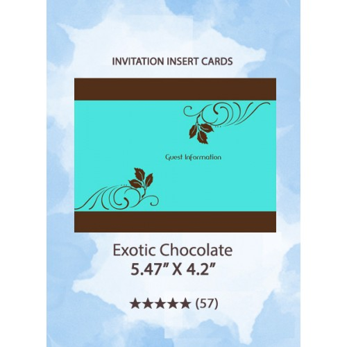 Exotic Chocolate - Insert Cards