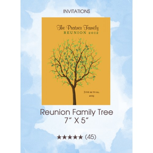 Invitations - Reunion Family Tree