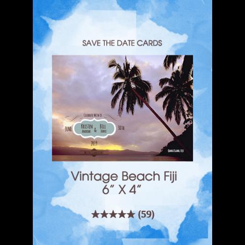 Save the Dates - Vintage Beach Fiji