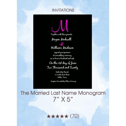 Invitations - The Married Last Name Monogram