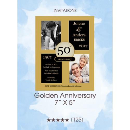 Invitations - Golden Anniversary