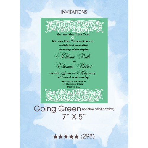Invitations - Going Green