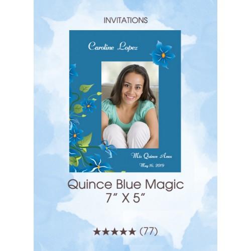 Invitations - Quince Blue Magic