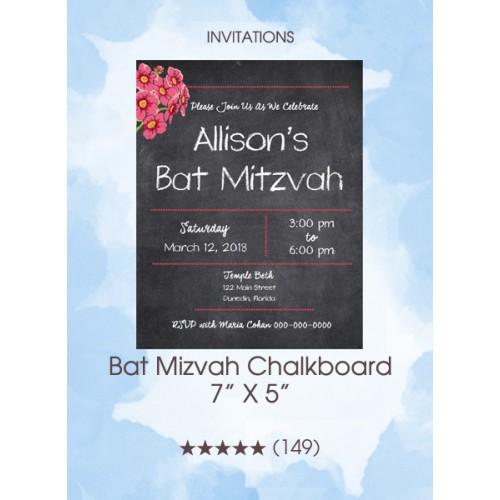 Invitations - Bat Mizvah Chalkboard