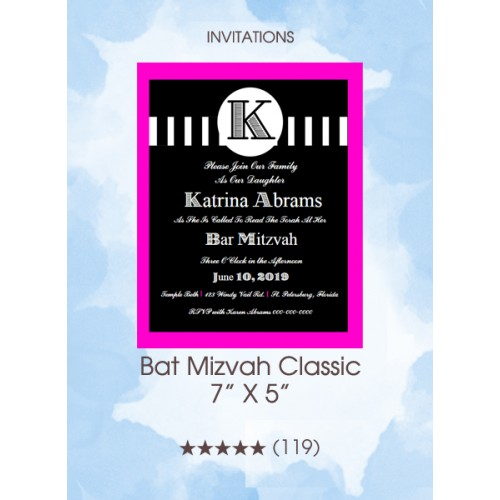 Invitations - Bat Mizvah Classic