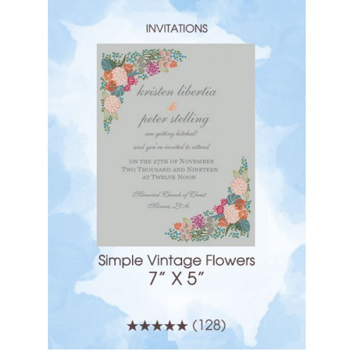 Invitations - Simple Vintage Flowers
