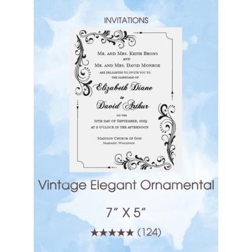 Vintage Elegant Ornamental Invitations